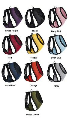Pet Dog Padded Puppy Harness 10 Colors 5 Sizes Mesh Breathable Comfortable Soft