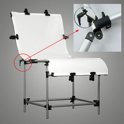 PRO Photography Studio Still Life Product Display Photo Shooting Table W/ Clamps