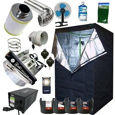 "Best Complete Grow Room Full Setup 1.2m Tent 5"" Fan, Filter, 600w Dual Light Kit"