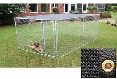 Large Metal 20x10' Chicken Coop Backyard Hen House Cage Run Outdoor Cage w Cover