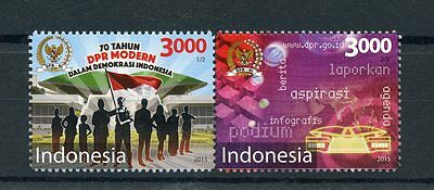 Indonesia 2015 MNH House of Representatives 70th Anniv 2v Se-tenant Set Stamps
