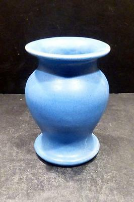 W. J. Gordy, Georgia Art Pottery Blue Matt Glaze Vase - MINT