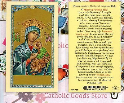 Our Lady of Perpetual Help (version 2) - Laminated Holy Card