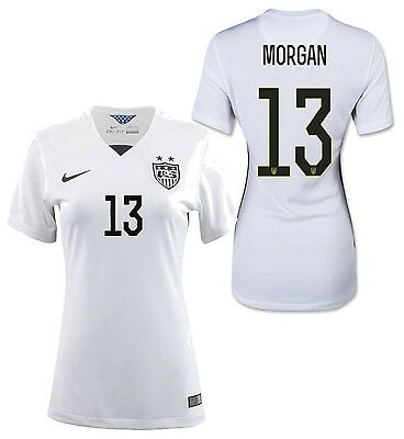 771906ef0af NIKE WOMENS ALEX Morgan Team USA Soccer Shield T-Shirt L New With ...