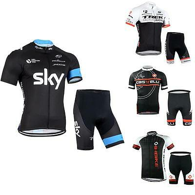 Cycling Bike Bicycle Short Sleeve Sports Clothing Suit Jersey Shorts Pants Sets