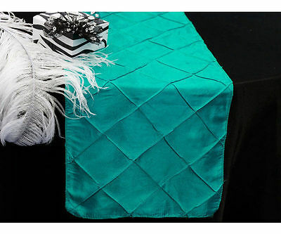 275cm Pintuck Table Runner Turquoise Wedding Party Table Decoration New