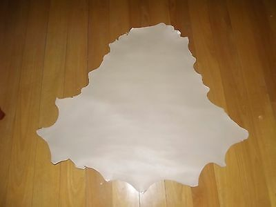 CLOTTED CREAM -  VEGETABLE TANNED Kangaroo leather 800 mm x 800 mm