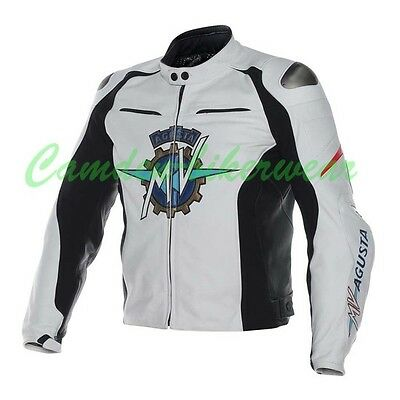 MV Agusta 2015 Motogp Motorbike Racing Leather Jacket CE Approved Armor All Size