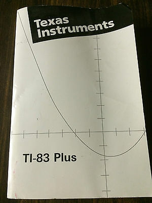 Texas Instruments TI-83 Plus graphing calculator guidebook #4976