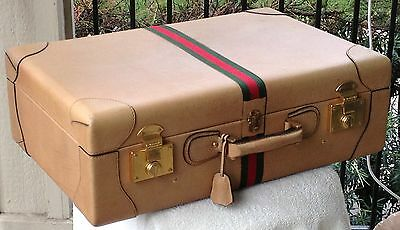 """Rarest of the rare –50's-early 60's GUCCI calfskin suitcase (8.5""""x17""""x26"""") Italy"""