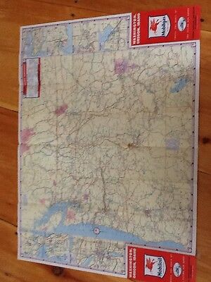 vintage mobil oil map socony vacuum 1940s United States Washington Oregon Idaho