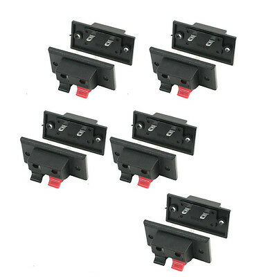 10Pcs Push In Type Right Angel Speaker Terminal Connector 2 Positions BTSZUK