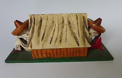 Old vintage 1940 Early California Mexican wood box sleeping resting Mexicans