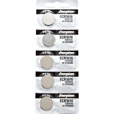 5 x Energizer CR1616 Batteries, Lithium battery 1616