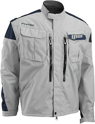 THOR MX 2016 Motocross/Offroad/Dual Sport Mens PHASE Jacket (Cement/Navy) Large