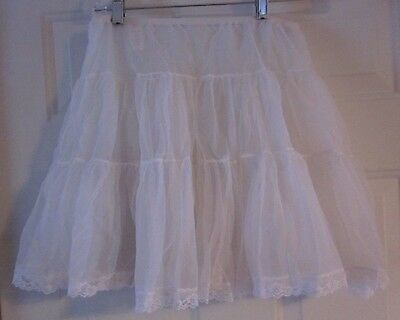 nwt Partners Please by Malco Modes WHT Square Dance Rockabilliy Petticoat Slip L