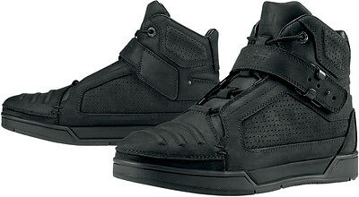 ICON 1000 Truant Leather Short Motorcycle Boots (Black) US 9.5