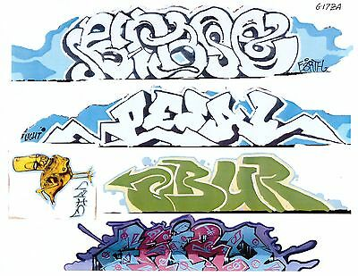 G Scale Graffiti Decals G17 From Real Graffiti Photos