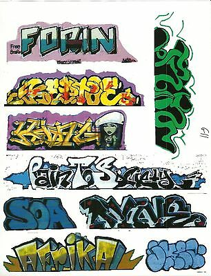 G Scale Graffiti Decals G11 From Real Graffiti Photos