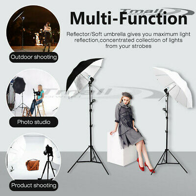 Photography Studio Continuous Umbrella Lighting Photo Reflector Light Stand Kit