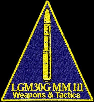 USAF 321st MISSILE SQ - LGM-30G MINUTE MAN III WEAPONS & TACTICS -ORIGINAL PATCH