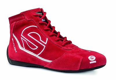 Shoes Sparco Slalom RB-3 FIA RED Suede Boots Race Racing Rally Driving