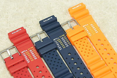 Rubber Divers ND Limits Polyurethane Watch Strap Fits Seiko Citizen 20-22mm Tool