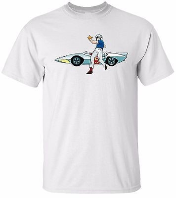 SPEED RACER & THE MACH 5 White T-shirt 100% Cotton Tee by BMF Apparel