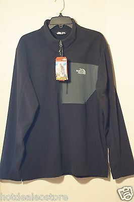 77854694a MEN'S THE NORTH Face - Tech 100 Half Zip Pullover Fleece in TNF Black  CUA3KT0 L