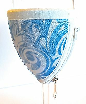Large Wine Glass Cooler - Swirl