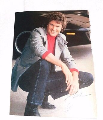 DAVID HASSELHOFF & Tom Cruise PINUP CLIPPING Full Color Pin Up Pic. Knight Rider