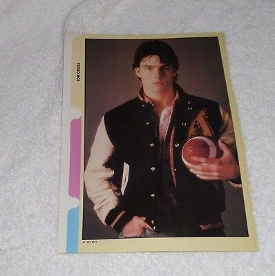 Tom Cruise & Glenn Scarpelli PINUP CLIPPING Full Color Pin Up AllThe Right Moves