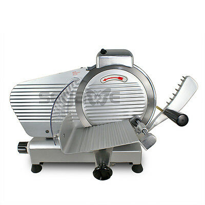 """10"""" Electric Meat Stainless Steel Blade Slicer Food Cutter Kitchen Home"""