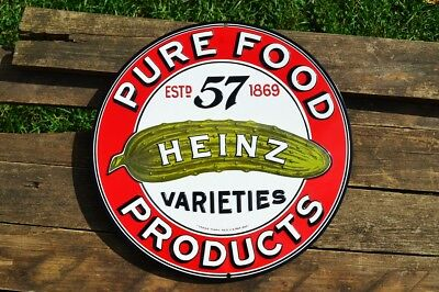 Heinz Pure Food Products Embossed Retro Tin Metal Sign - Ketchup - 57 - Vintage