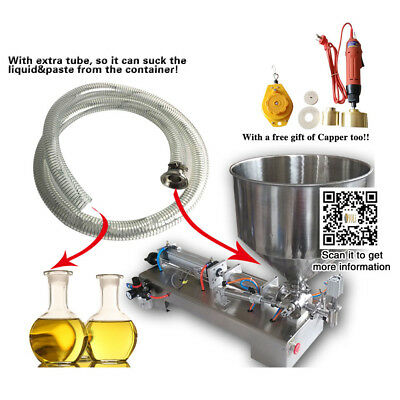 pneumatic paste filling machine for hot sauce,cream,pepper sauce with 1 hose