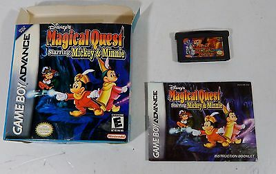 Nintendo Game Boy Advance 2002 Disney's Magical Quest Mickey & Minnie Working