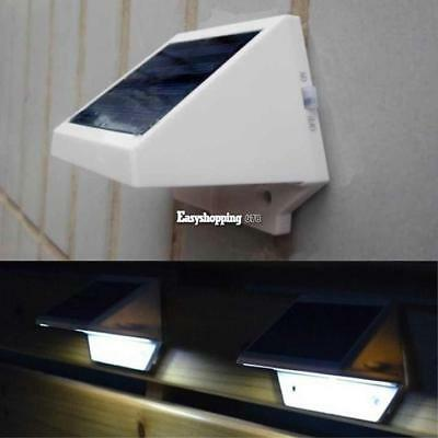 4 LED Solar Powered Stairs Fence Garden Security Lamp Outdoor Waterproof Light#