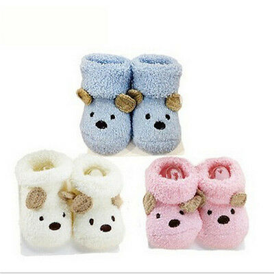 2016 Baby Socks Bear Manual Slipper Shoes Newborn to 6 Month Cartoon