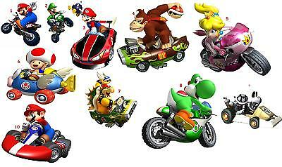 10 Super Mario Vinyl Wall Stickers 3 Sizes A6 A5 A4