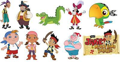 10 Jake And The Neverland Pirates Vinyl Wall Stickers 3 Sizes A6 A5 A4