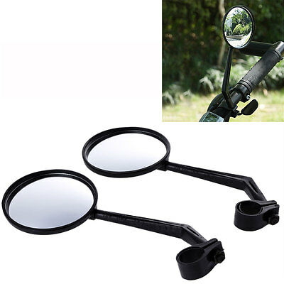 1 Pair  Cycling Bike Bicycle Handlebar Flexible Safe Rear View Rearview Mirror