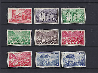French Andorra 1949 - 51  S G F112 - F140  Various Values To 30F    M / H