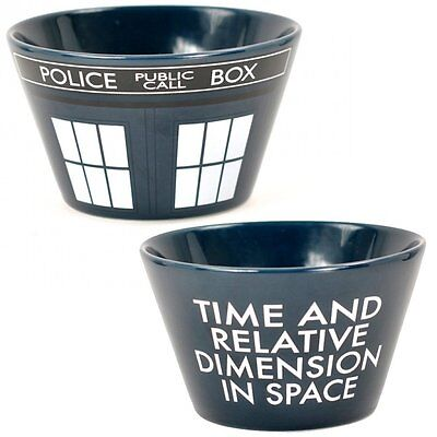 Doctor Who Tardis Ceramic Bowl Dr Retro Police Box Cereal Soup Dessert Official