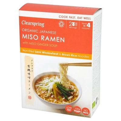 Clearspring Organic Japanese Miso Ramen Noodles with Miso Ginger Soup 170g