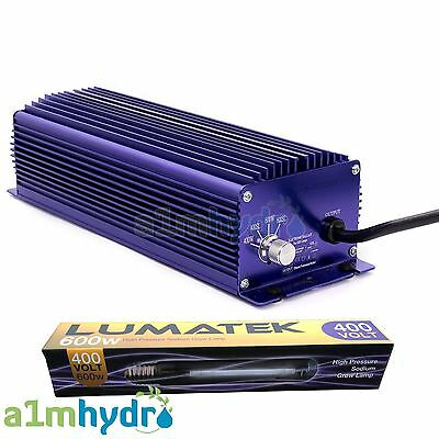Lumatek 600W 400V Digital Ballast And Bulb Ultimate Dimmable Version Hydroponics