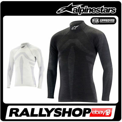 Alpinestars ZX EVO Long Sleeve Top FIA underwear Black White Pullover Tuning