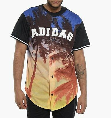 Genuine Adidas Originals Men's Palms Mesh Baseball Jersey (S19044)