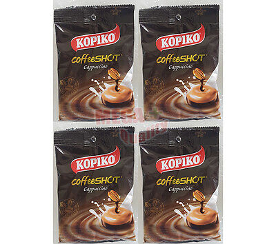 KOPIKO Cappuccino Delicious Rich Coffee Candy 4 Packs = 36 tablets
