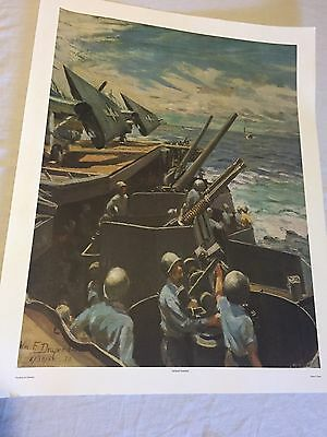 Lot of 4 World War 2 Prints From The Navy Art Collection