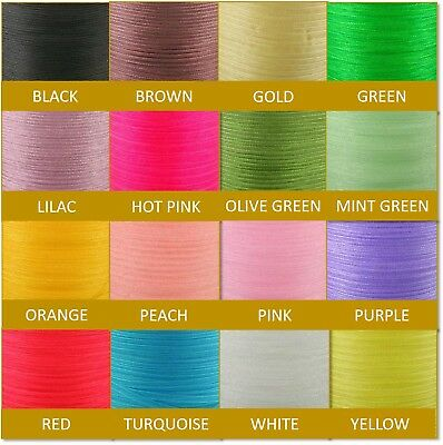 Cut Length Good Quality 3mm Woven Edge Sheer Organza Chiffon Ribbon 10 Yards